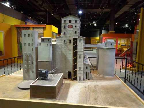 Model of Council Bluffs Grain Elevator